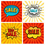 Sales icons vector set Royalty Free Stock Photos