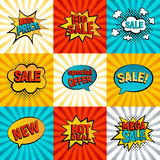 Sales icons vector set Stock Images
