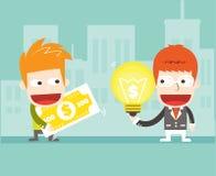 Sales ideas. Vector cartoon business Stock Photos