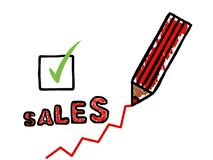 Sales increase poster Stock Image