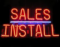 Sales Install royalty free stock photography