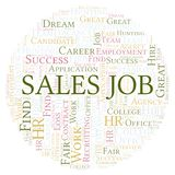 Sales Job word cloud. Wordcloud made with text only vector illustration