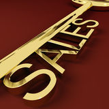 Sales Key Representing Business And Ecommerce Stock Images