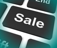Sales Key Shows Promotions And Deals Royalty Free Stock Photo