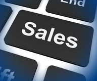 Sales Key Shows Promotions And Deals Stock Photos