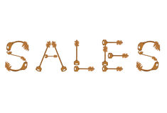 Sales keys. Wor sales made from keys isolated on white royalty free illustration