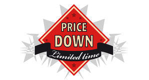 Sales label. With special price offer Stock Photos