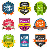 Sales labels stock illustration