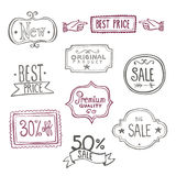 Sales Labels - Doodles Royalty Free Stock Photography
