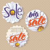 Sales labels Royalty Free Stock Images