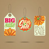 Sales labels Royalty Free Stock Photo