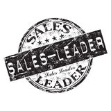 Sales leader rubber stamp vector illustration