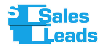 Sales Leads Blue Abstract Stripes Royalty Free Stock Photography