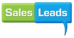 Sales Leads Green Blue Comment Symbol Royalty Free Stock Photos