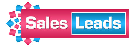 Sales Leads Pink Blue Circular Horizontal. Sales leads text written over pink blue background Royalty Free Stock Photography