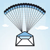 Sales letter to airdrop Royalty Free Stock Photography