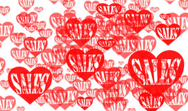 Sales love background Royalty Free Stock Images