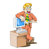 Sales man cartoon Royalty Free Stock Image