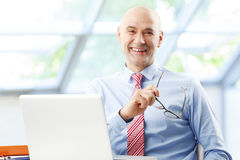 Sales man at work Stock Photo
