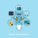 Sales management vector Stock Photo