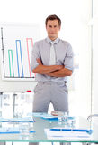 Sales Manager Presenting figures Royalty Free Stock Photography