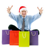 Sales manager with shopping bags Stock Image