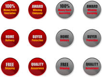 Sales & Marketing Badges for Websites stock photo