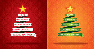 Sales Marketing Banner and Christmas Greeting Card Royalty Free Stock Image
