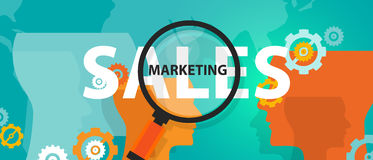 Sales marketing improvement of business concept of thinking analysis. Vector Stock Image