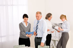 Sales meeting business people review reports. Consulting new strategy Royalty Free Stock Images