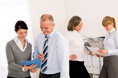 Sales meeting business people review reports. Consulting new strategy Stock Image