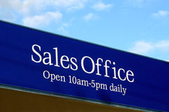 Sales Office Sign Royalty Free Stock Photos