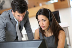 Sales people working at office Royalty Free Stock Photography