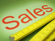 Business - Sales. The sales success can be measured many different ways Royalty Free Stock Images