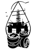 Sales of petroleum products Stock Photos