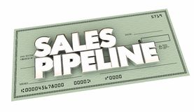 Sales Pipeline Check Selling Prospects Make Money Royalty Free Stock Images