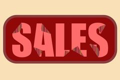 Red sales poster stock illustration