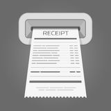 Sales printed receipt. Royalty Free Stock Photography