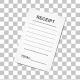 Sales printed receipt.Template. For bank, cafe or restaurant paper financial check,  vector illustration Royalty Free Stock Photography