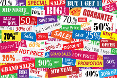 Sales promotion and big discount in business concept Stock Image