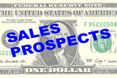 Sales Prospects - financial concept Stock Image