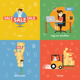 Sales, purchases, discounts, ideas and analysis Stock Photography