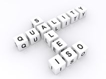 Sales quality iso in crossword Royalty Free Stock Photo