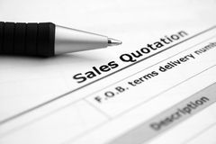 Sales quotation Royalty Free Stock Photo