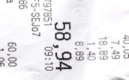 Sales receipt Stock Image