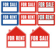 Sales and rent sign Royalty Free Stock Photos