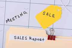 Sales report Stock Image