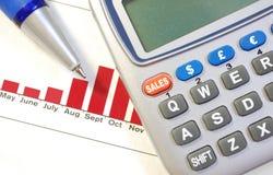 Sales report Stock Photos