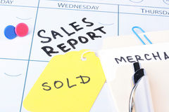 Sales Report Meeting Royalty Free Stock Image