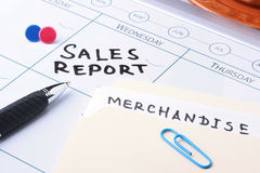 Sales Report Meeting Stock Photography
